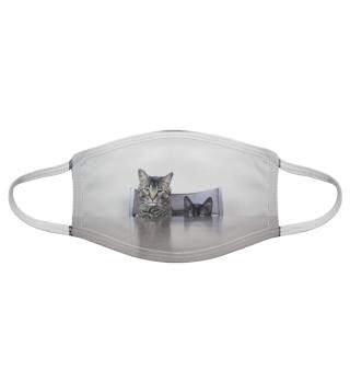 Gesichtsmaske mit Katzenmotiv 20.8