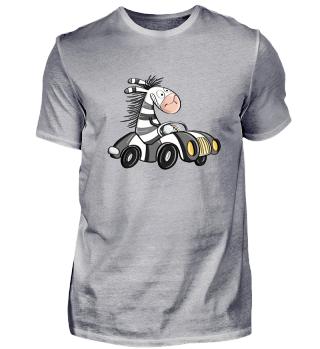 Happy Zebra Fährt Auto I Zebras