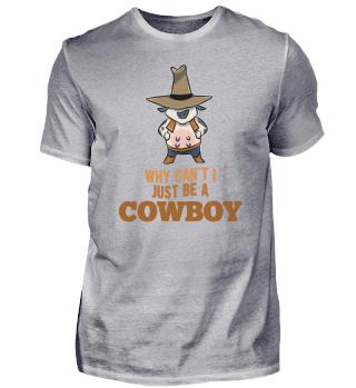 Cowboy funny cow dairy farm