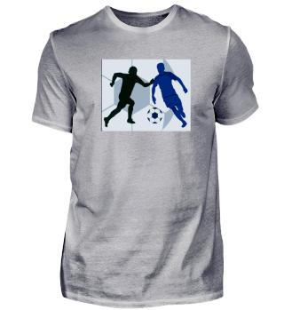 T-Shirt mit 2 Fußballspielern