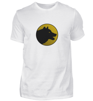 Einsamer Wolf/Hund Logo auf Farbe