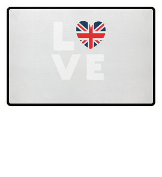 I love LOVE England United Kingdom Flag