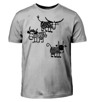 Crazy COWS - zum Ausmalen - schwarz