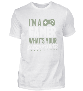 Gaming Super Power Nerd Geek Lustiges