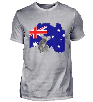 Australien - Flagge mit Koala