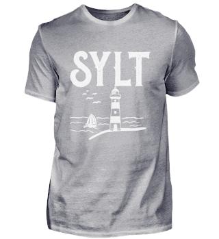 Sylt North Sea lighthouse sailing ship i