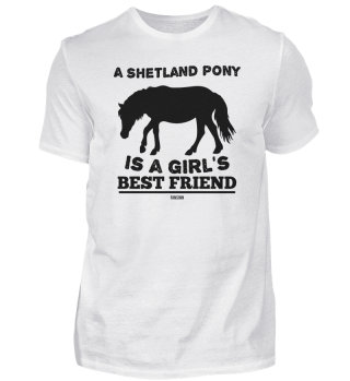Shetland pony lovers girl saying