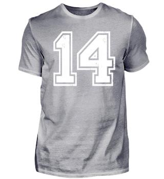 14 TRIKOT Jerseys Number Jersey Sport