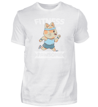 Sporty cat jogs in sportswear
