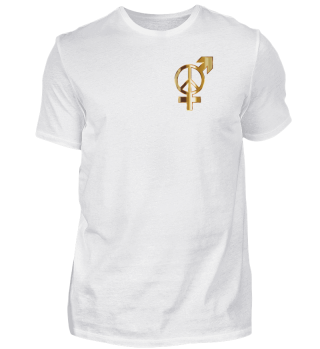 Frau Mann Frieden Gold Symbol