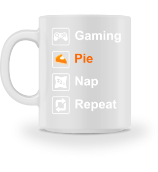 Thanksgiving Gift Gaming Pie Nap Repeat