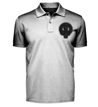 Band Polo Shirt mit gesticktem Logo (dunkel)