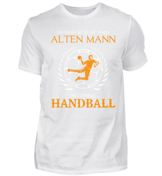 Unterschätze nie alten Mann Handball