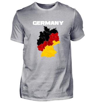 Deutschland Flagge Karte Map Geschenk