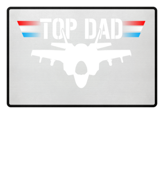 Top Dad Jet Düsenjäger Pilot Fußmatte