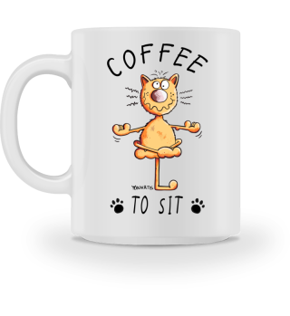 Coffee To Sit I Katze Katzentasse