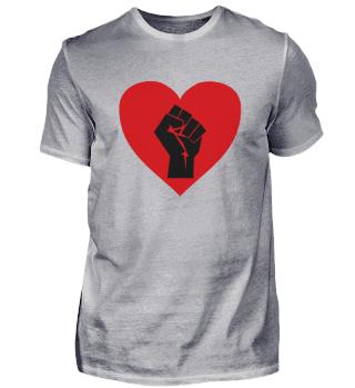 BLACK RIGHTS LOVE HEART PRIDE PROTEST