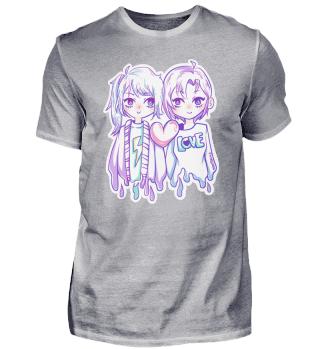 Liebe Mädchen Frauen lesbisch Manga Herz