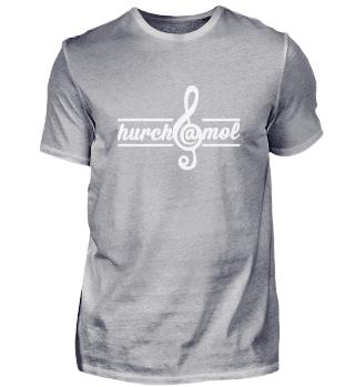 hurch@mol - Herrenshirt rot - Frontprint