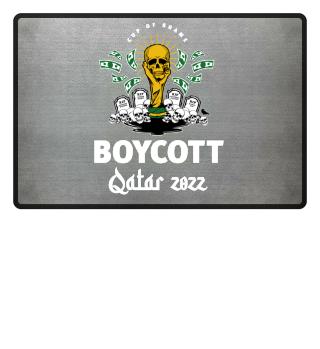 Boycott Qatar 2022 black