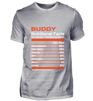 Nutritional Facts Buddy Tee Shirt