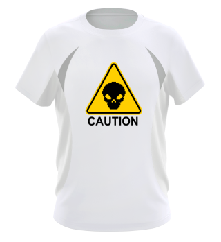 Caution Scary Skull Is Here Birthday