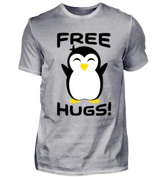 Pinguin - Free Hugs- Freie Umarmung, Fun