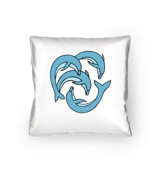 Delfine Tierschutz Kissen Geschenk