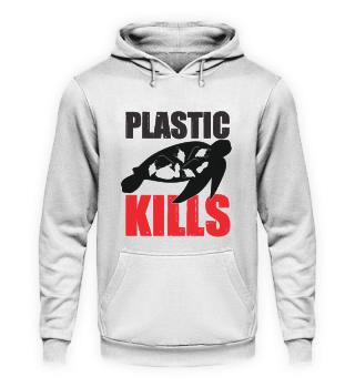 Plastic kills sea turtles