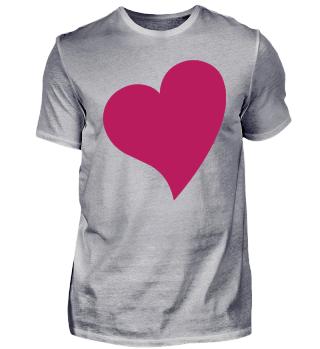 Herzchen auf T-Shirt als Geschenk