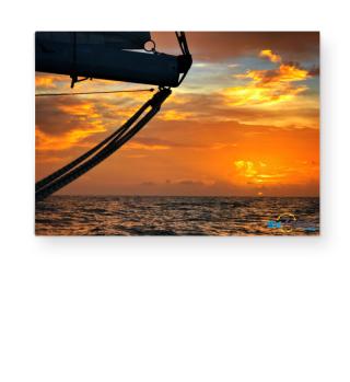 Sonnenuntergang in der Südkaribik - Poster A3