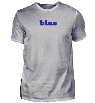 blue T-shirt - Geschenkidee