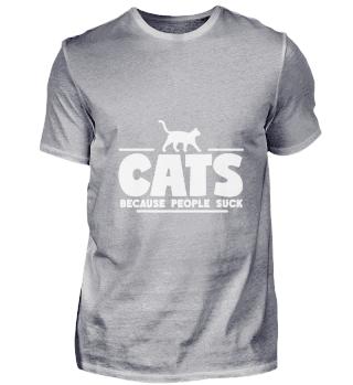 People Suck TShirt Cat Lover Gift