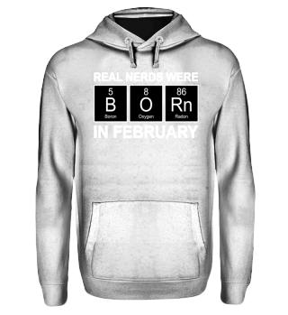 Periodic Elements - BORN february white
