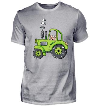 Witziges Schwein Mit Traktor I Trekker