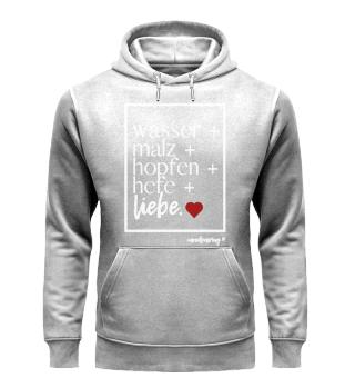 unisex hoodie the essentials weiße schrift