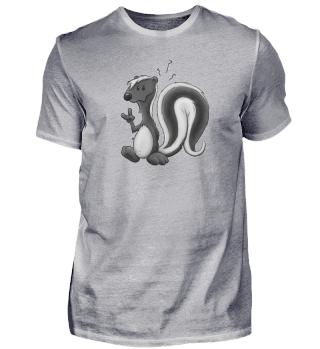 Lustig stinkiger Skunk Stinktier