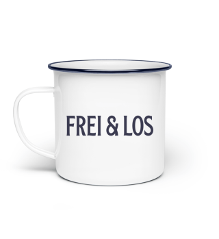 Emaille-Tasse - Frei&Los