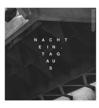 NachtEin.TagAufkleber Sticker & Poster