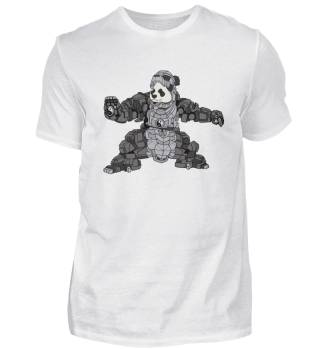 Iron Panda Cyborg Robot Gift