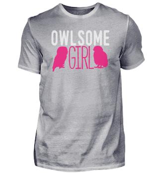 Owlsome Girl | owl girl joke owls