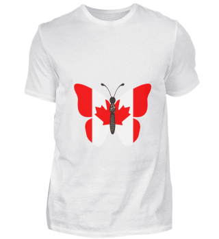 Butterfly Canada Canadian Flag Gift Idea