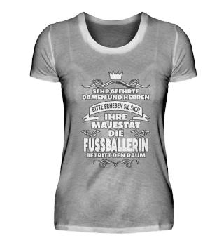 Fussballerin T-Shirt Geschenk Sport Lust