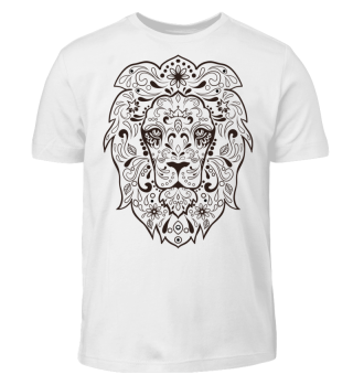 Löwe Ornamente Tattoo - schwarz