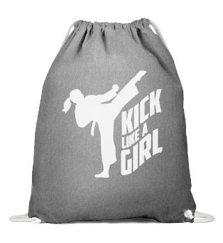 Kick Like A Girl-Karate Kickboxing Girl