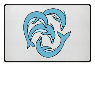 Delfine Tierschutz Fußmatte Geschenk