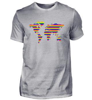 Weltkarte LGBT Frieden Gleichheit Liebe