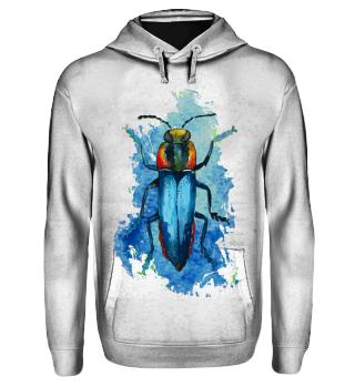 Beautiful Watercolor Bug - blue