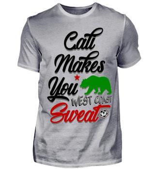 Herren Kurzarm T-Shirt Cali Makes You Sweat Ramirez