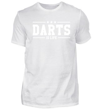Darts is life. white